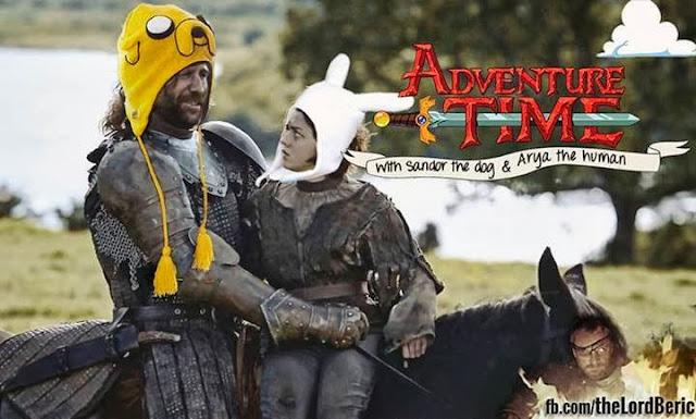 arya y sandor hora de aventuras - Juego de Tronos en los siete reinos