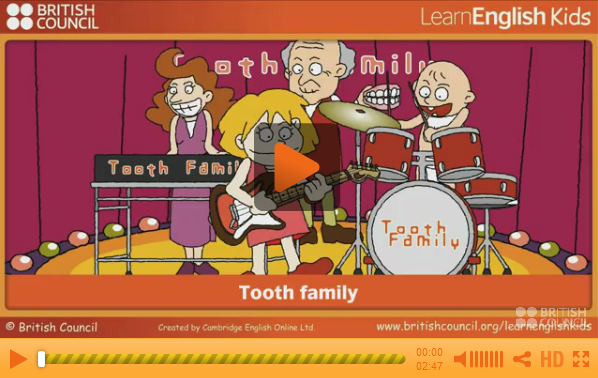 http://learnenglishkids.britishcouncil.org/en/songs/tooth-family