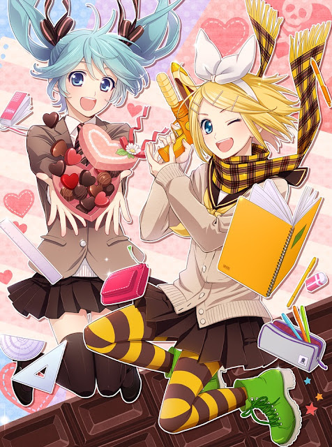 vocaloid valentines,valentines day,anime love