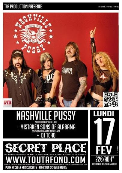Nashville Pussy @ Secret Place, St Jean de Védas - Montpellier 17/02/2014