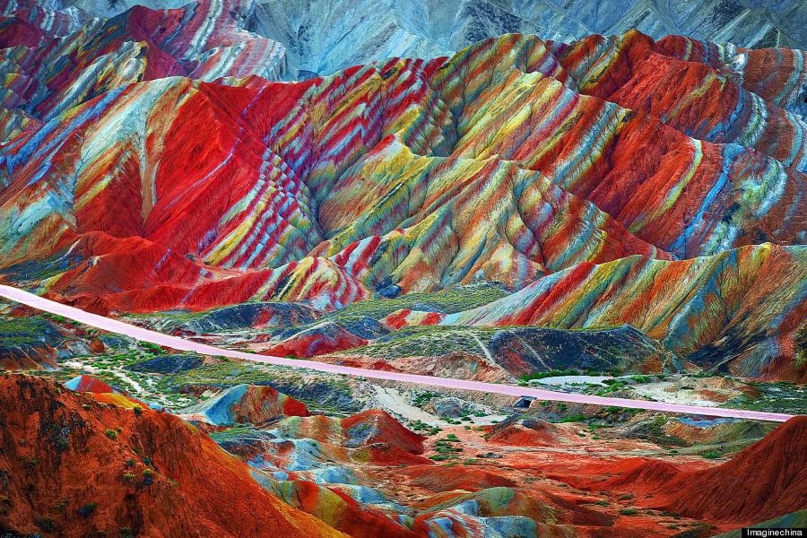 rainbow mountain in china 2