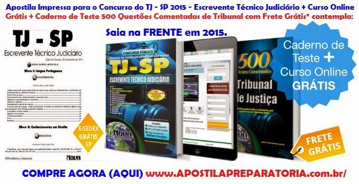 postila Impressa Concurso do TJ SP 2015 + Frete Grátis*