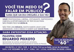 PALESTRA COM EDUARDO PEIXOTO.