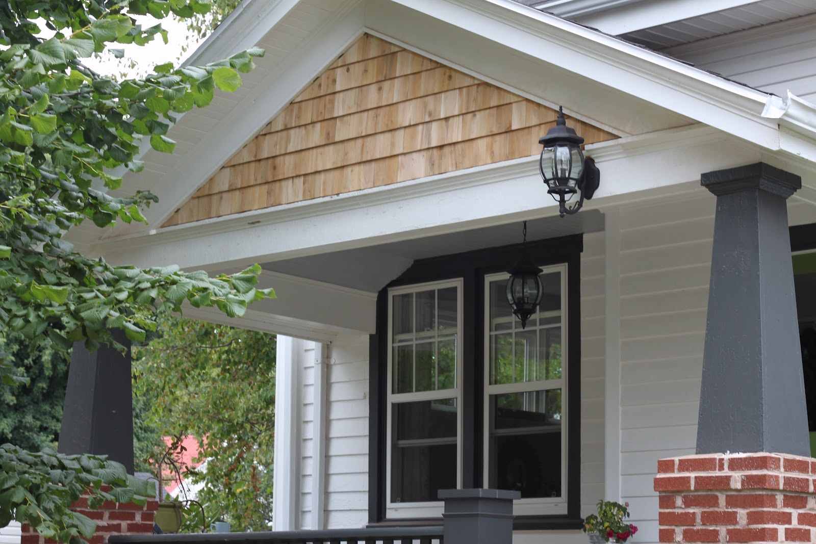 Modern jane porch gable update for Craftsman style gables