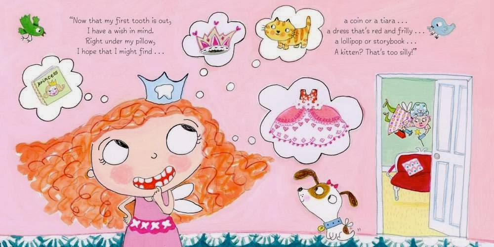 sample page from THE TOOTH FAIRY LOSES A TOOTH! by Steve Metzger