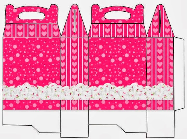 Hearts and Lace in Pink: Free Printable Lunch Box.