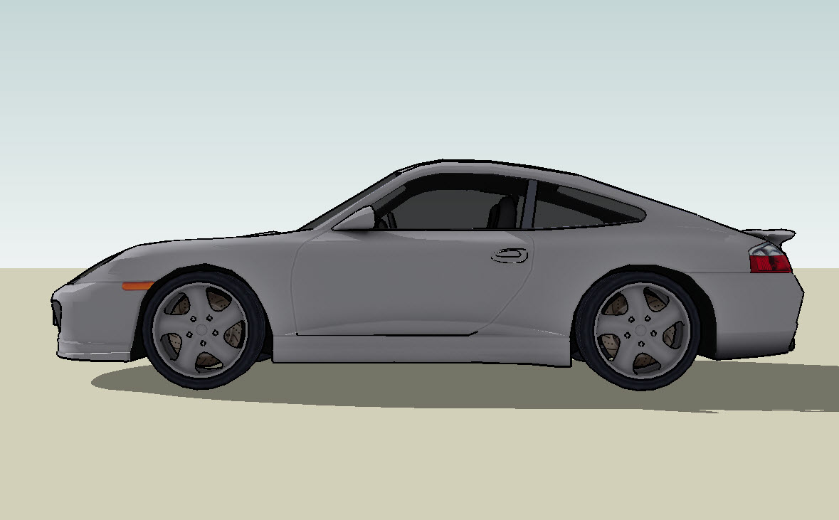 3d Model Of The Sports Car Porsche Sports Car Porsche