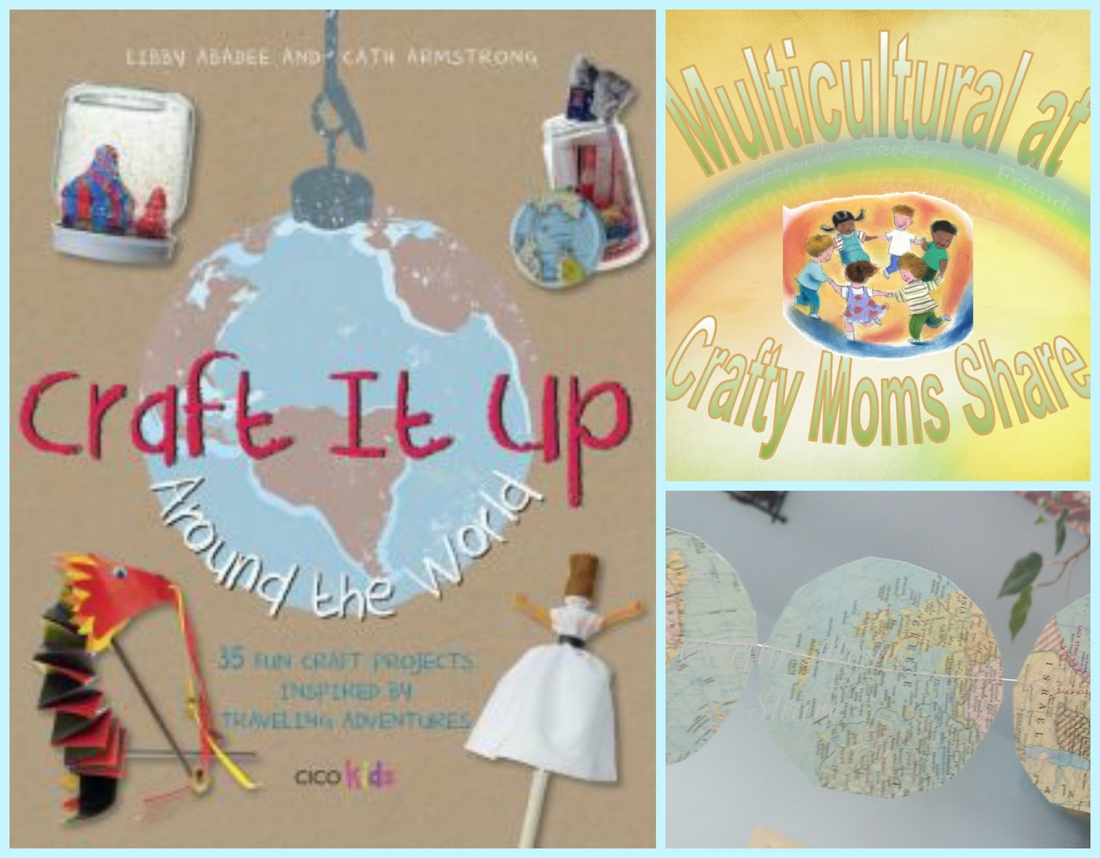 Crafty moms share craft it up around the world book review for Around the world crafts
