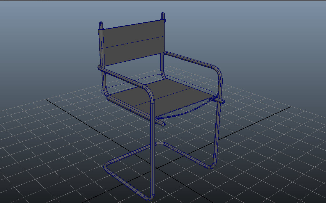 Steel pipe Chair_Modeling P3H