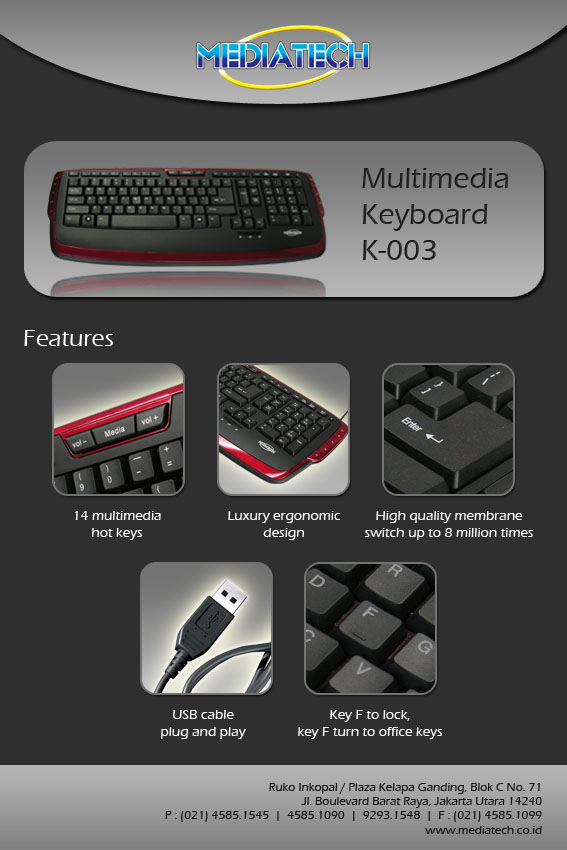keyboard-multimedia-Mediatech K-003