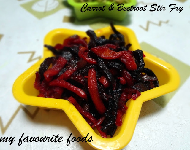 carrot-beetroot-fry