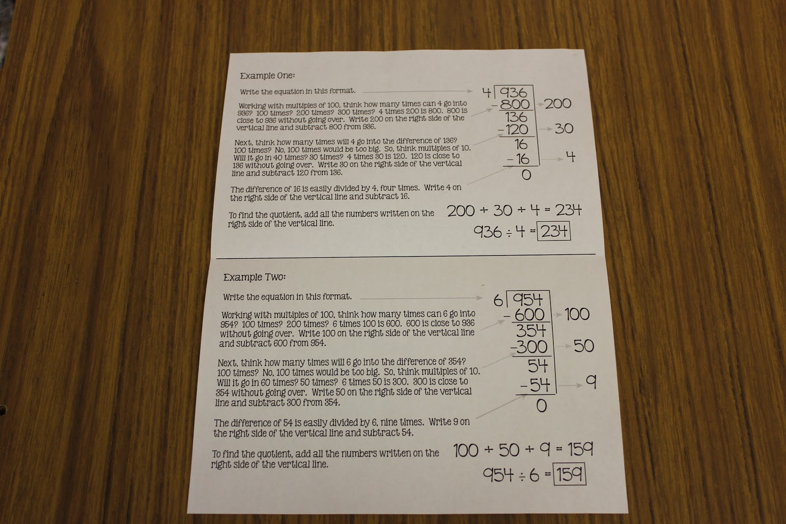 Partial Quotient Worksheet – Partial Quotient Division Worksheets