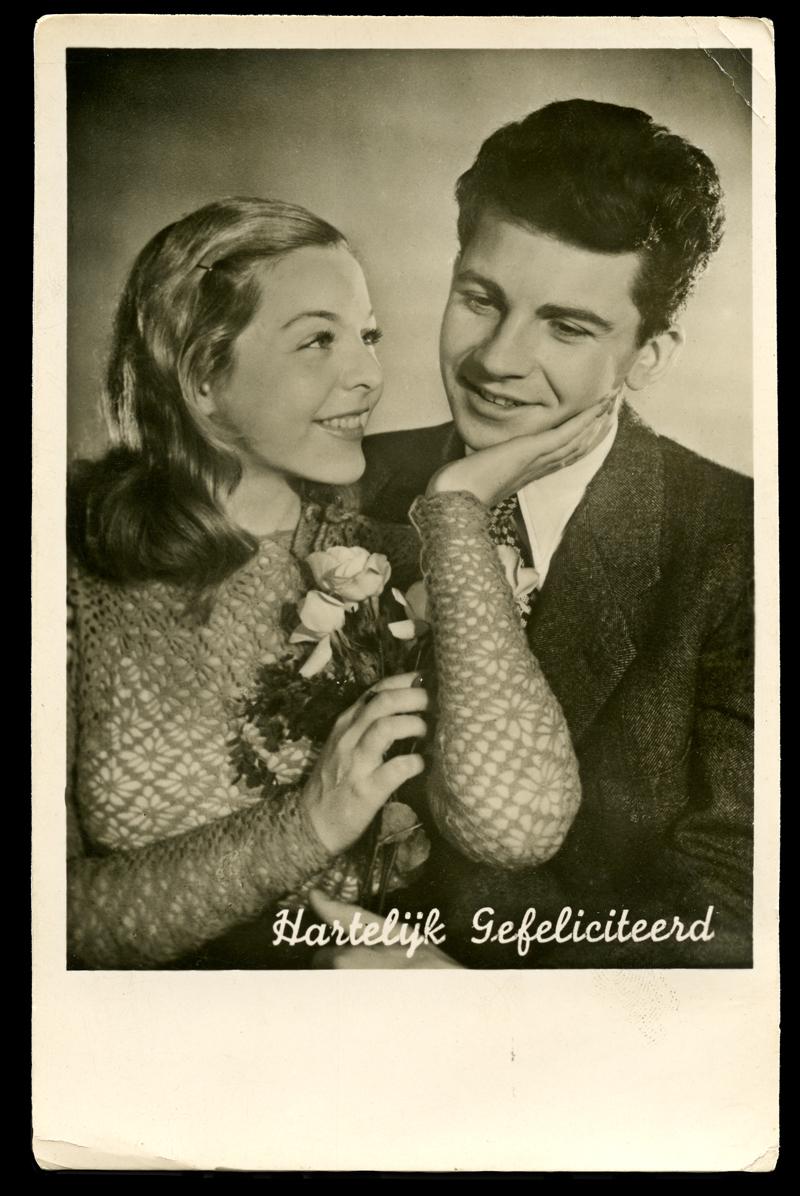 Vintage Postcard Series : Hartelijk Gefeliciteerd
