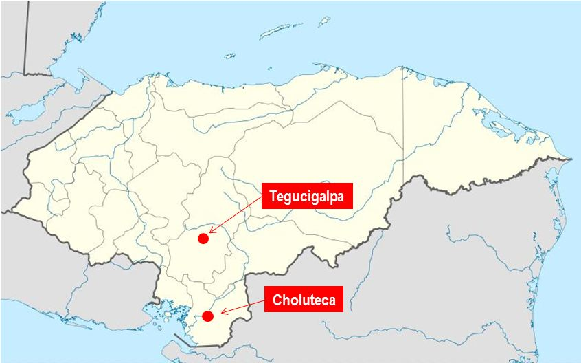 Where Is Honduras Choluteca Is The Sultaness Of The South - Cities map of honduras