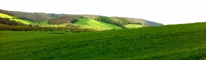 edge of vale looking west