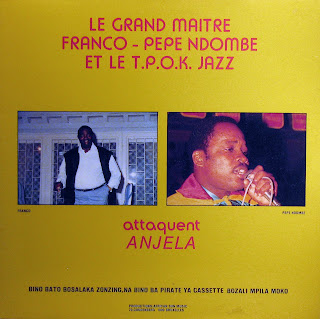 le Grand Maître Franco, Pepe Ndombeet le T.P.O.K. Jazz attaquent Anjela,African Sun Music 1988