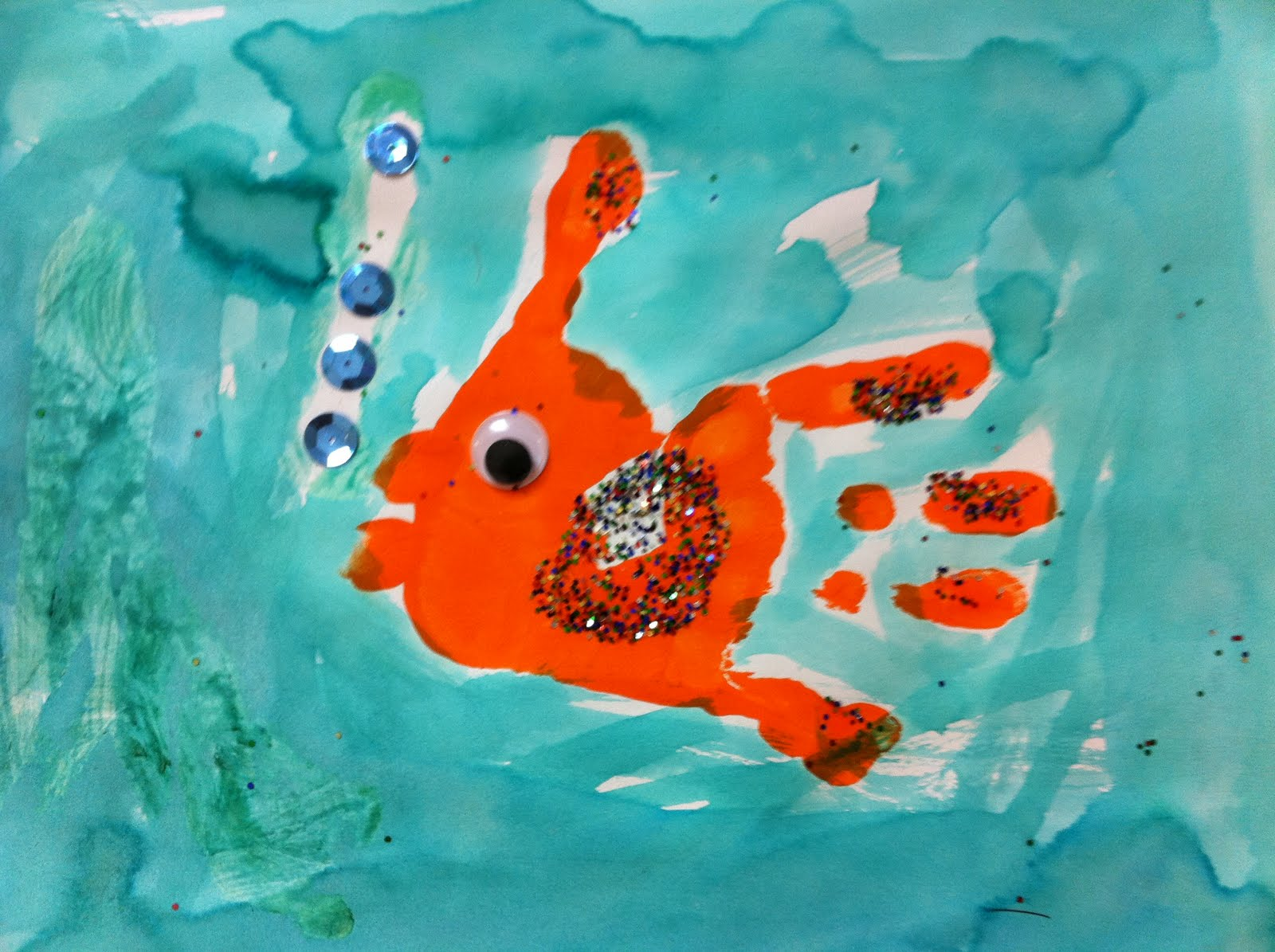 Crafts for one year olds - Arts And Crafts For Five Year Olds Fish Glyph