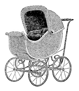 baby carriage digital image