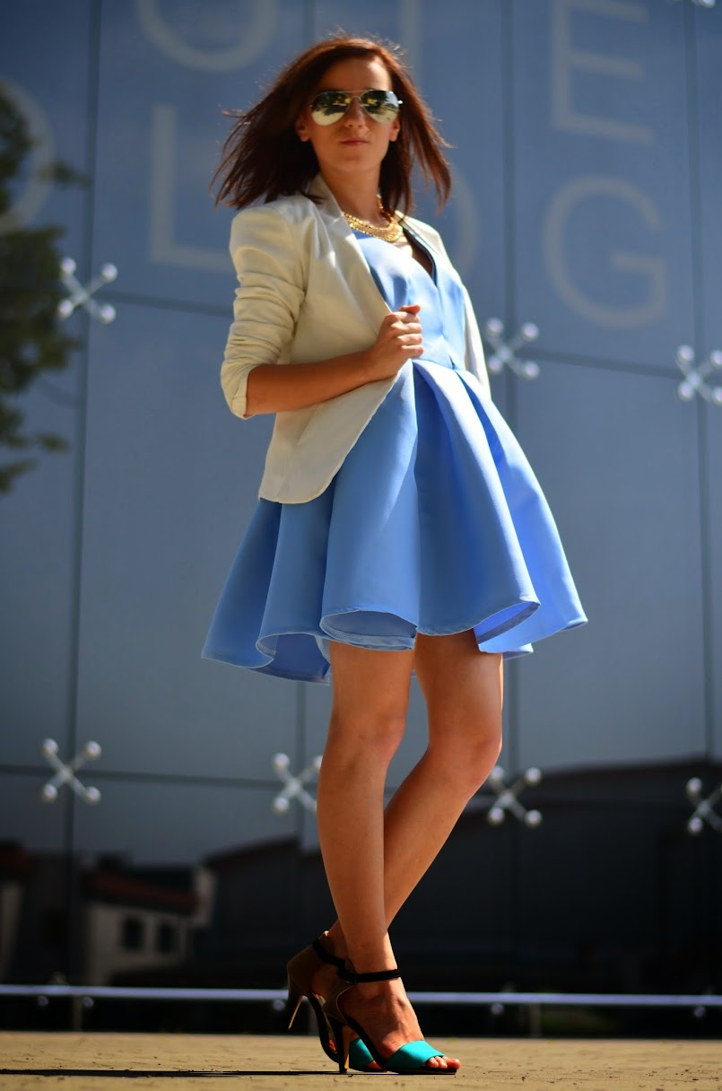 `Baby blue dress
