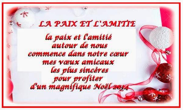 Message de voeux d'amitié pour souhaiter Joyeux Noël ...