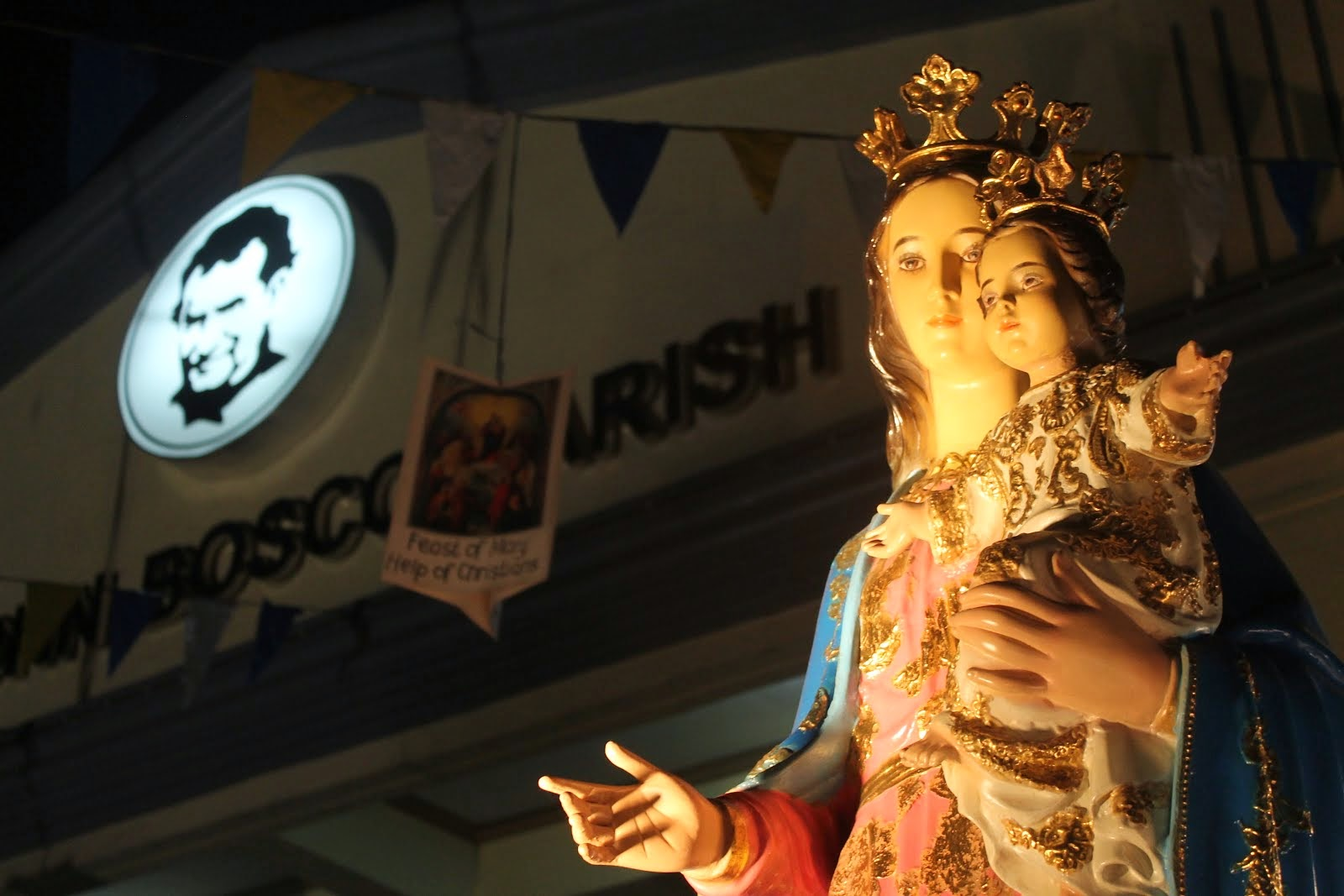 St. John Bosco Parish Tondo is under the protection of Mary Help of Christians
