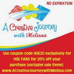Coupon Code for A Creative Journey with Melissa