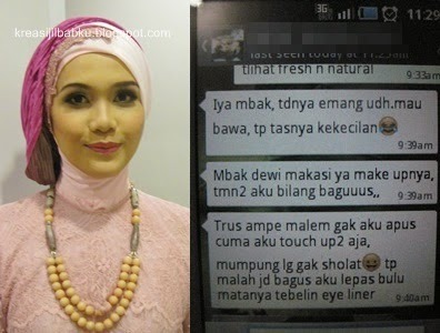 stylist jilbab dan make up pesta