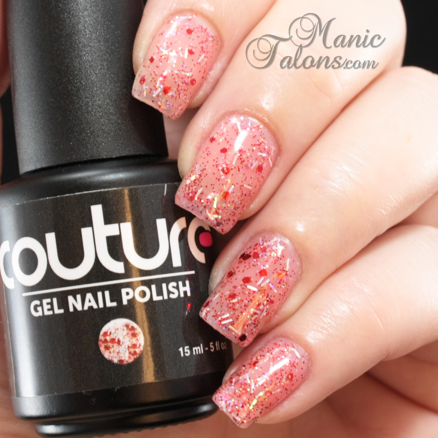 Couture Gel Polish All That Glitters Collection Fireworks Swatch