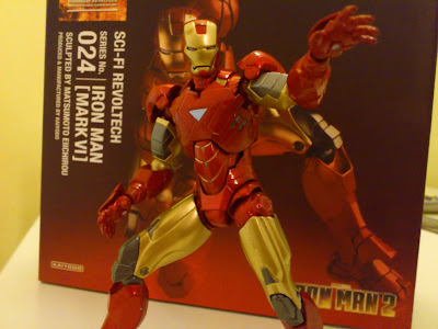 Sci-fi Revoltech Marvel Iron Man Mark 45 Articulated Action Figure