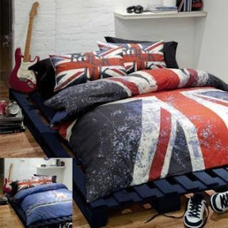 London themed bedding room decor for Decoration theme angleterre