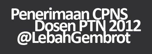Penerimaan CPNS Dosen PTN dan Pegawai Administrasi PTN