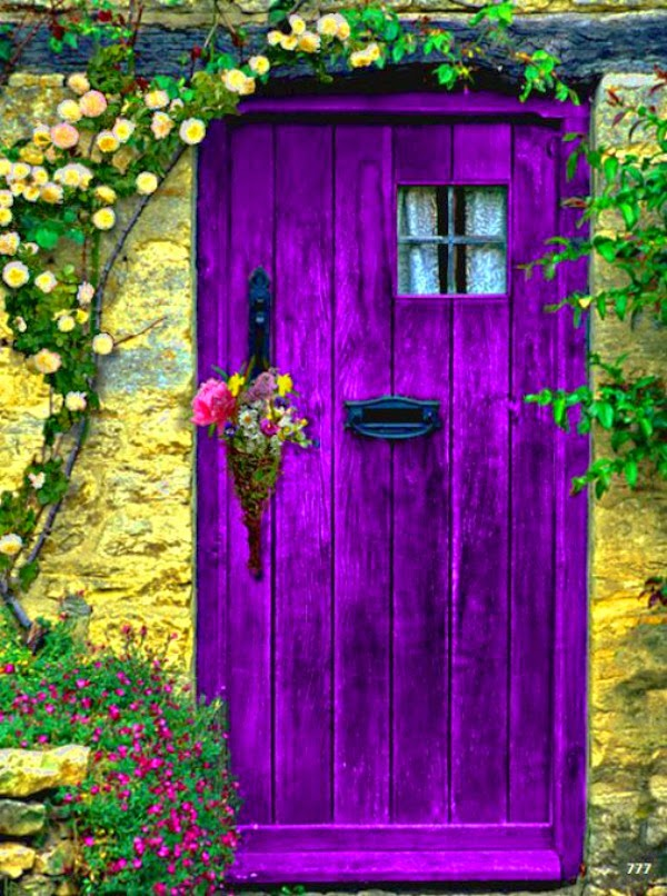 Purple In The Garden - Cozy Little House