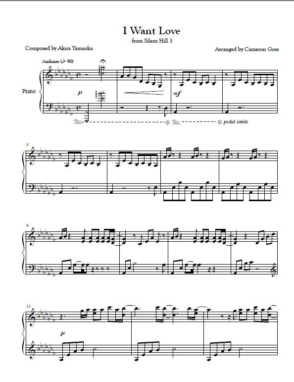 Dead Island Piano Sheet Music