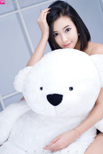 2 Kim Ha Yul - Ruffle Mini Dress-very cute asian girl-girlcute4u.blogspot.com