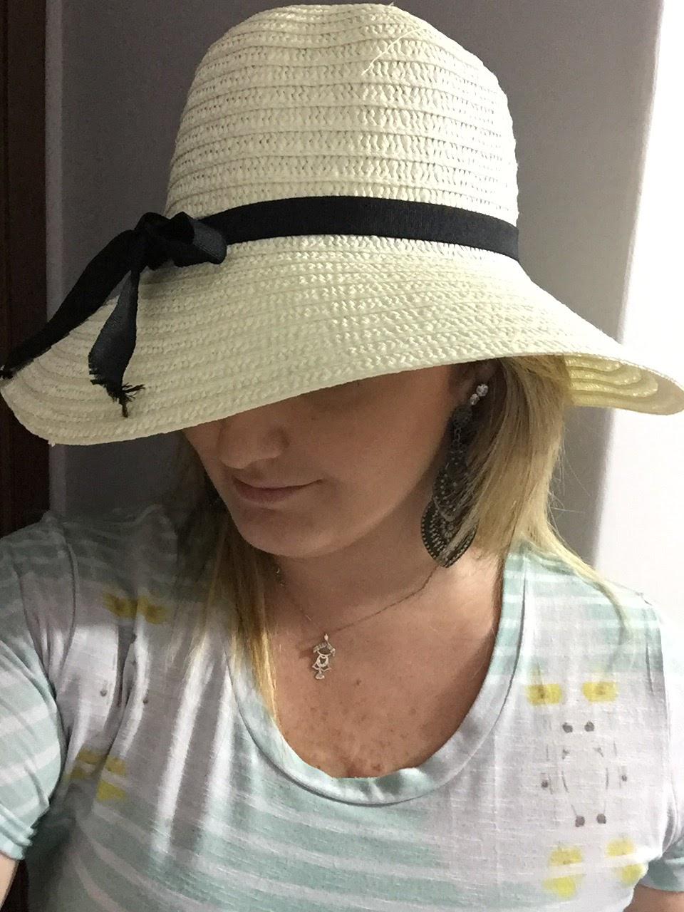 chapéu palha praia Maria Chica Bijuterias ... blog Mamãe de Salto/ todos os direitos reservados