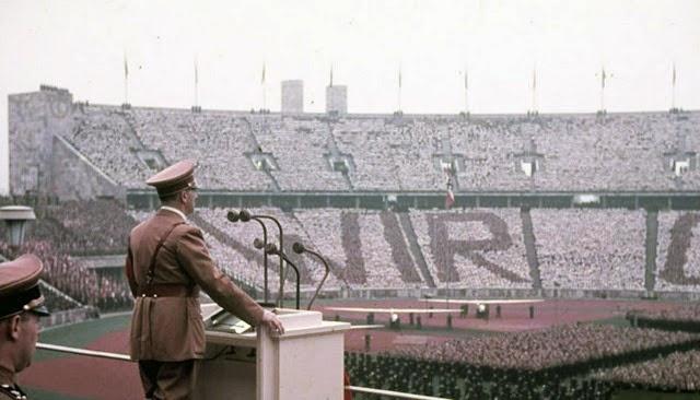 Inauguración de los juegos Olímpicos de Berlín 1936