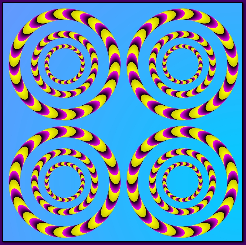 This is a cool spinning optical illusion