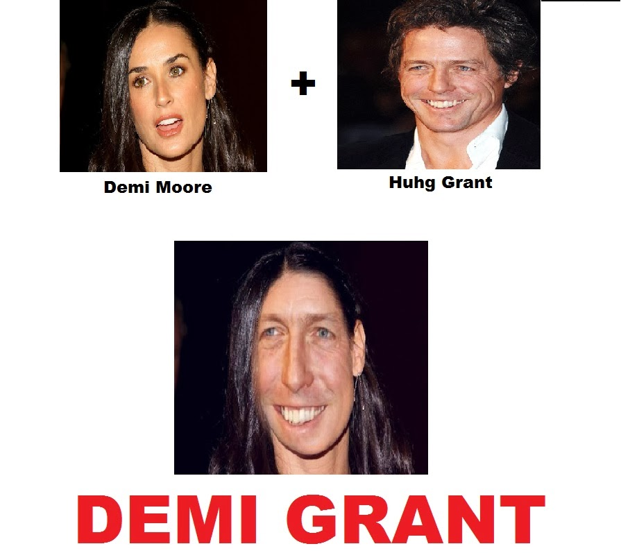 Demi Moore + Hugh Grant