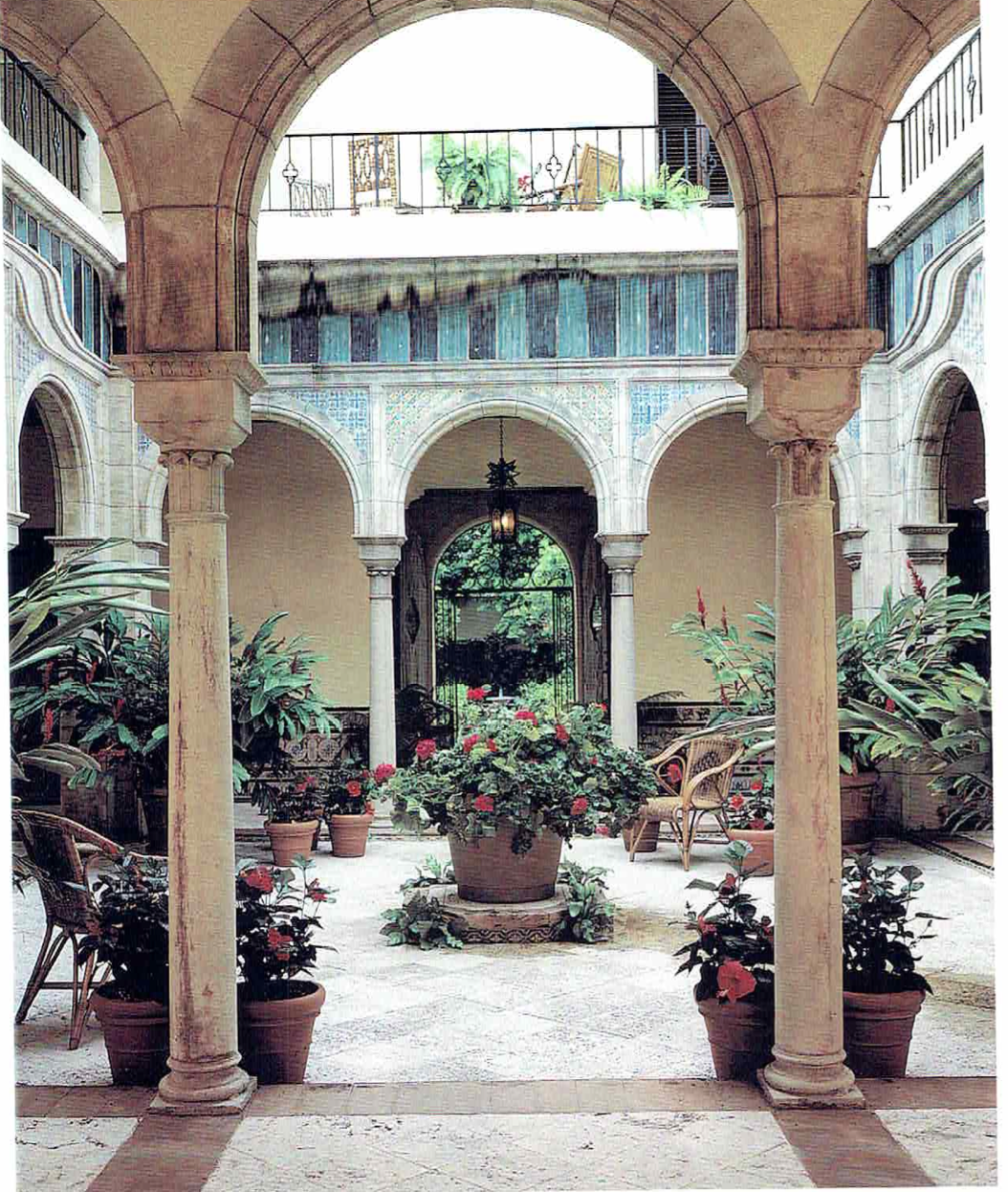 Mediterranean Style Courtyard: The Glam Pad: Palm Beach Chic Circa 1990s