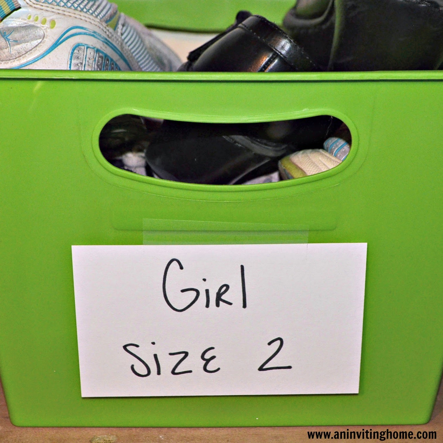 storing kids shoes in your home