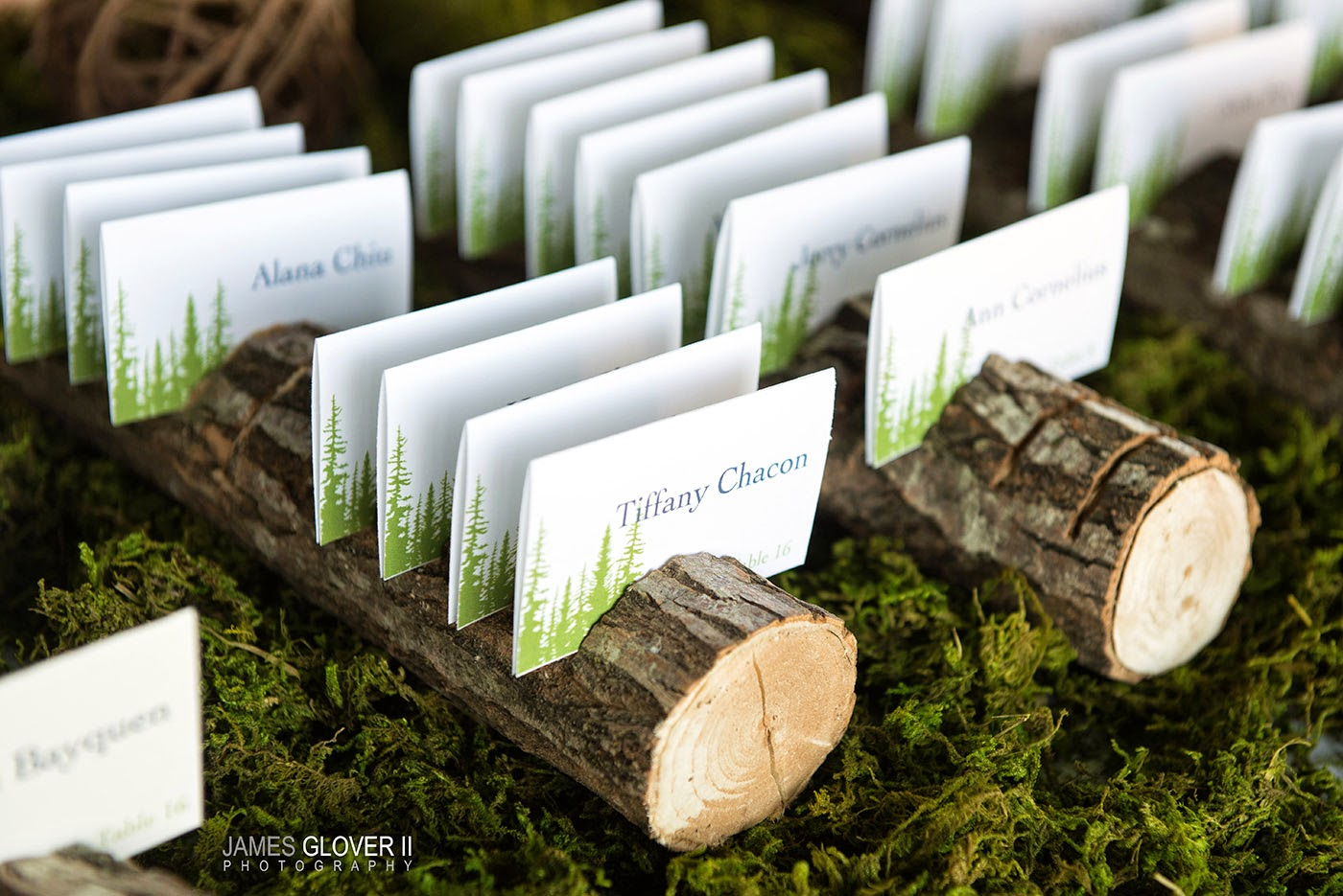 Rustic Wedding Escort Cards | James Glover Photography | Take the Cake Events