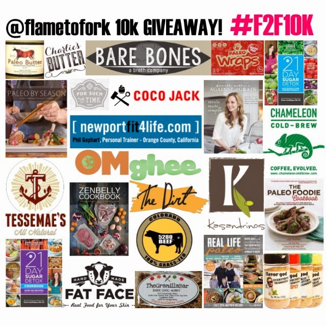 flame to fork Instagram Giveaway ends 6/30