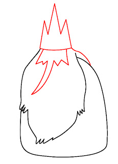 How To Draw Ice King Adventure Time Step 3