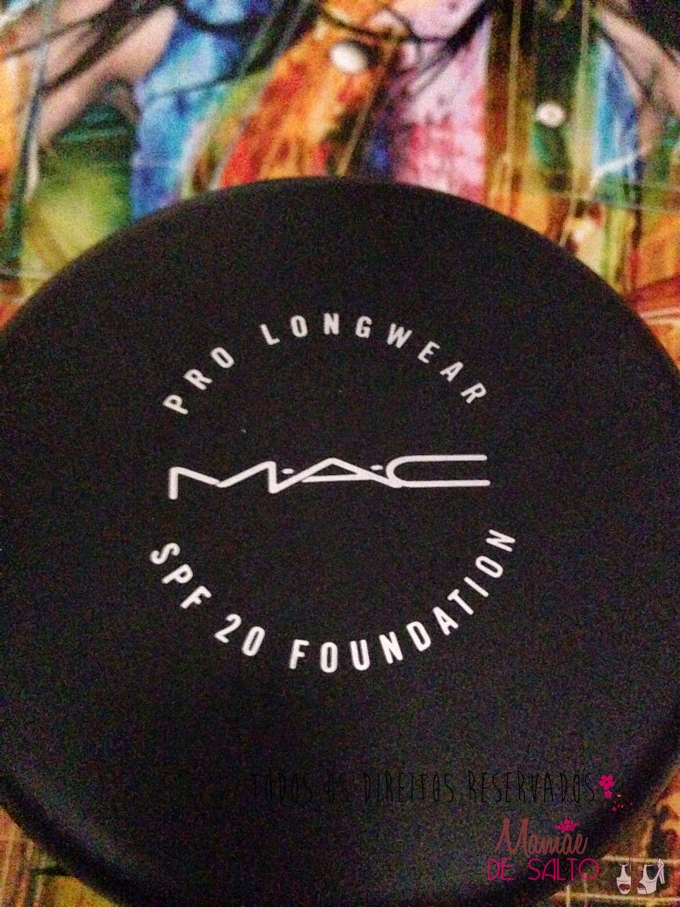 resenha base pro longwear compact FPS20 MAC => todos os direitos reservados blog Mamãe de Salto