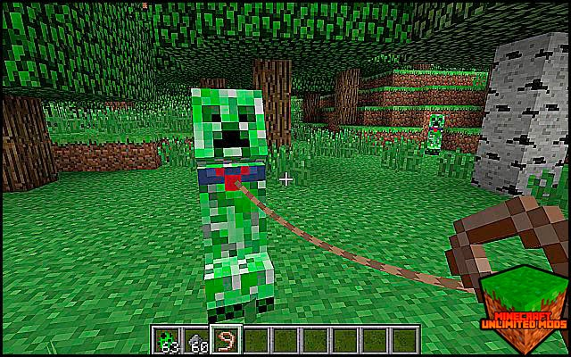 Tameable Creepers Mod