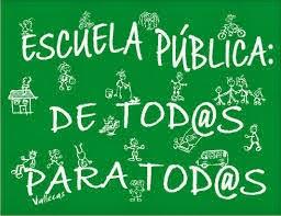 Escuela pública de TODOS y para TODOS, y de CALIDAD, y siempre siempre trabajando por la EQUIDAD
