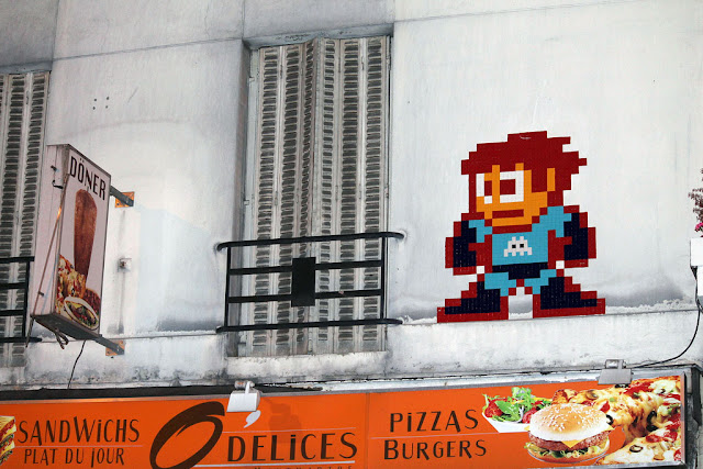 megaman street art by invader in paris, france - ninth most popular mural of august 2013