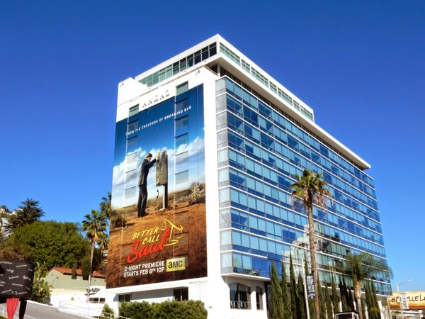 Better Call Saul series premiere billboard Sunset Strip