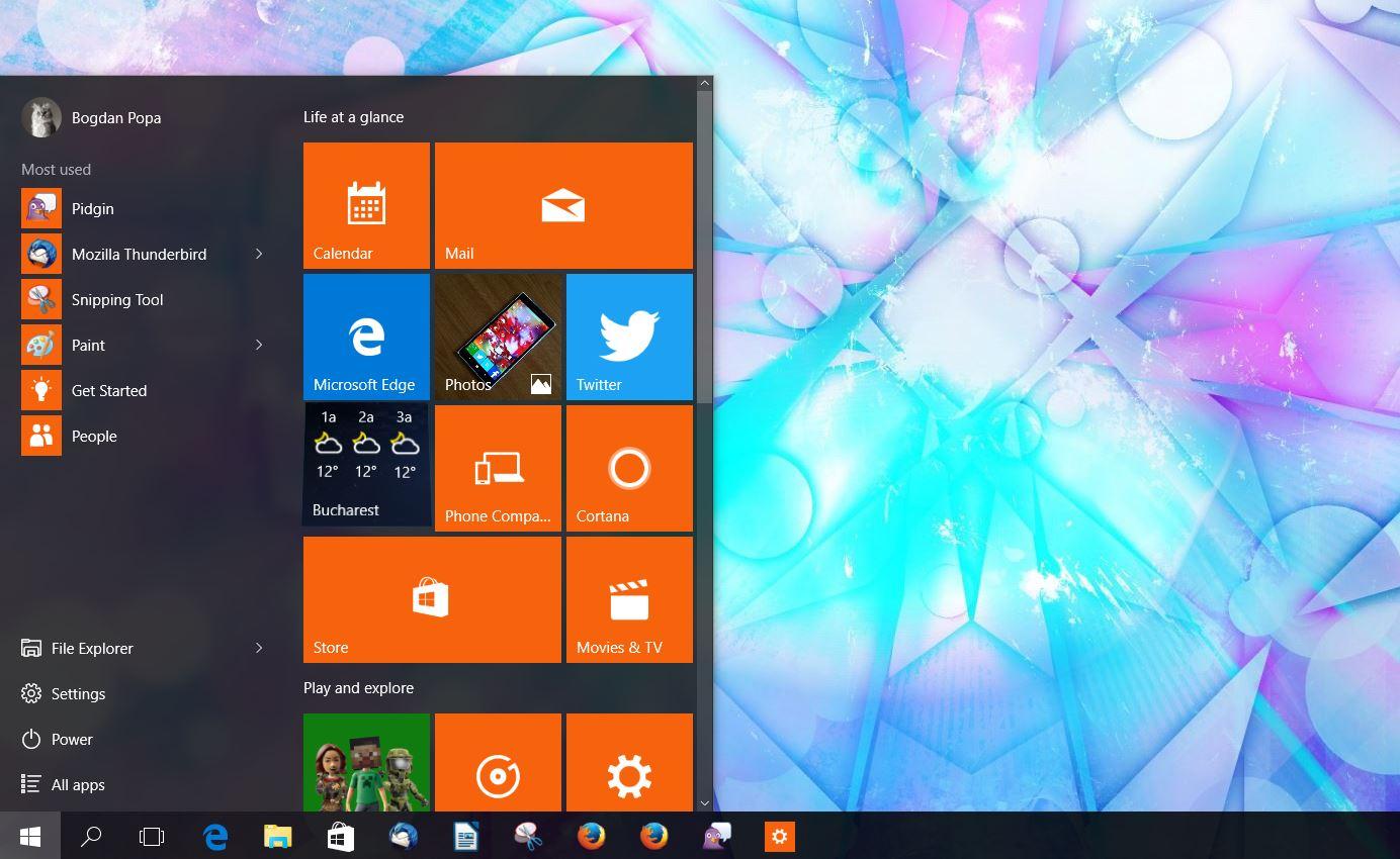 critical error in windows 10 start menu not working