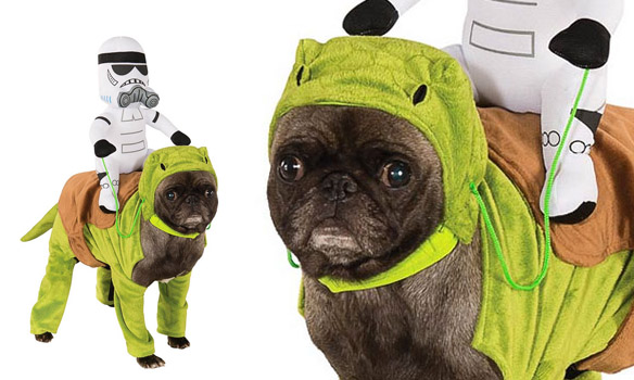 Dewback costume for dogs with Stormtrooper  sc 1 st  BOLD and UNUSUAL DOG Stories - Haus Of Paws Blog & DOGS Dressed in Star Wars Costumes All Year u0027Round! | BOLD and ...